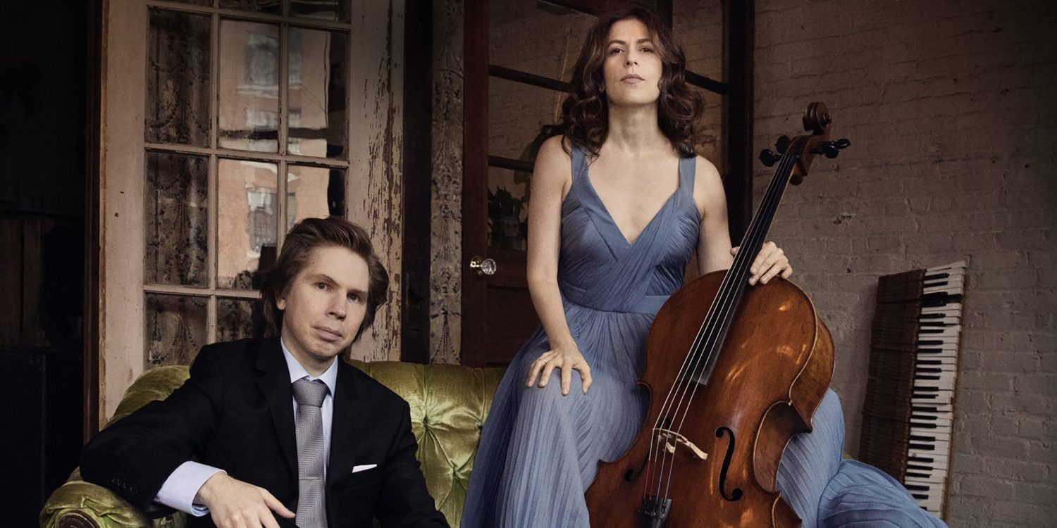 "The album cover to Inbal Segev and Juho Pohjonen's album titled ""Chopin, Schumann, Grieg"""